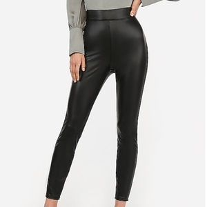 NWT Express High Waist Vegan Leather Leggings MP